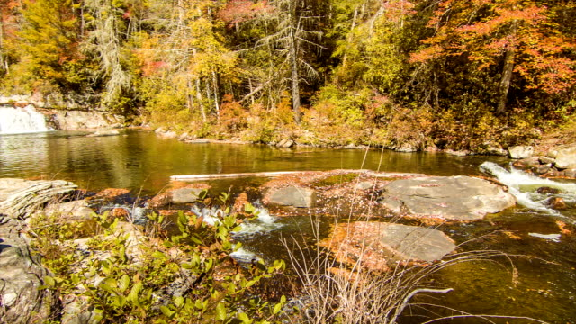 Panning Across the Linville River in NC Blue Ridge Mountains video