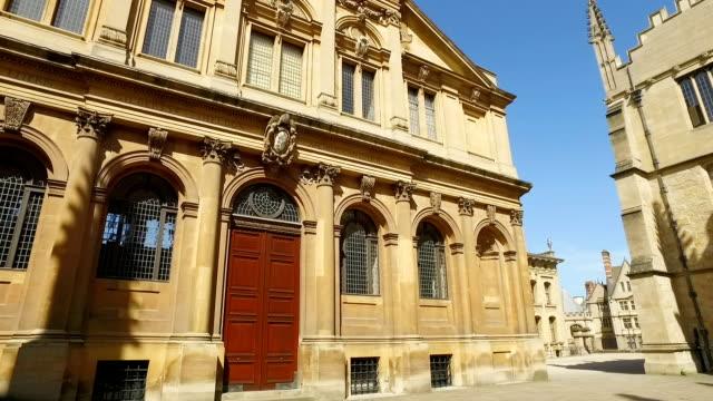 Panning around historic buildings video