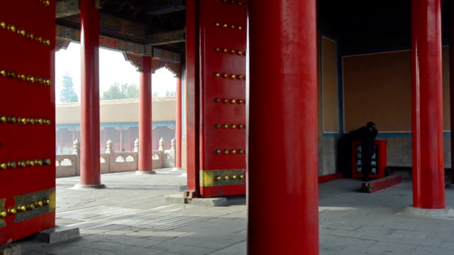 panning: big and red gate of forbidden city video