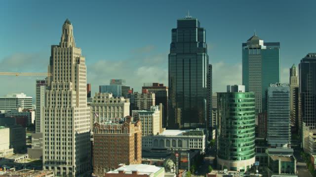 Panning Drone Shot of Downtown Kansas City, Missouri video