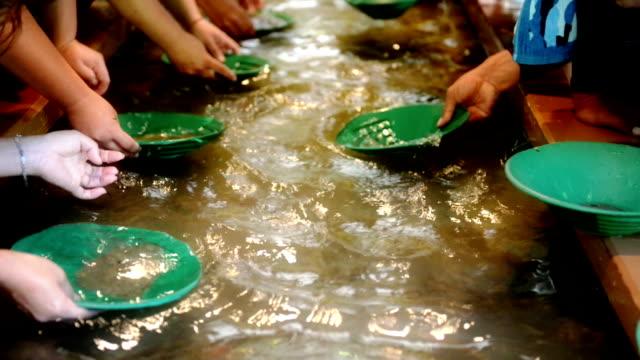 gold waschen - gold waschen stock-videos und b-roll-filmmaterial