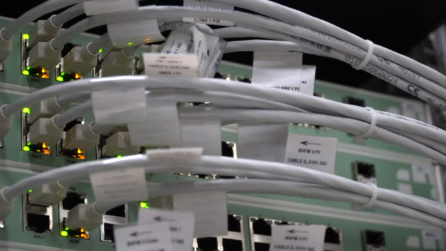 Panning Hub Cable Network in server room