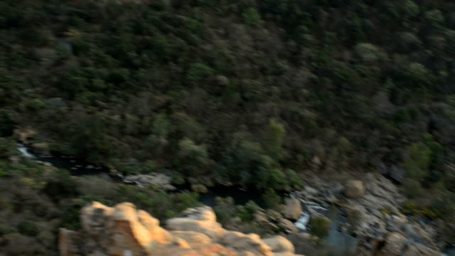 Panning left, South African mountain scenics in Waterval Boven video