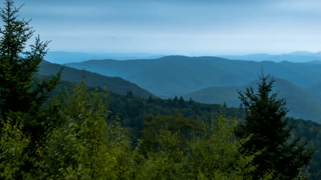 Panning Over Mystical Smoky Mountains of North Carolina video