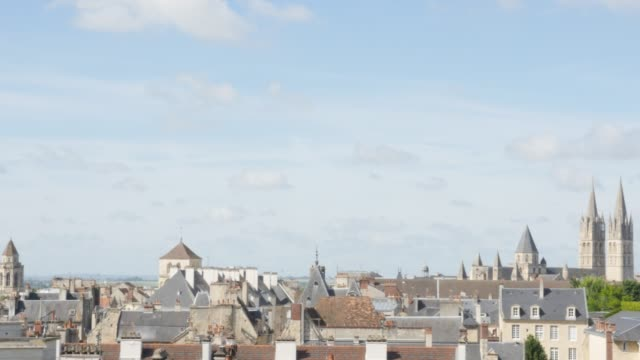 Panning over rooftops in  Normandy city of Caen in northern France by the day 4K Panning over rooftops in  Normandy city of Caen in northern France by the day 4K 3840X2160 UltraHD footage - Calvados region of French city Caen cityscape and roofs slow  pan 4K 2160p UHD video caen stock videos & royalty-free footage