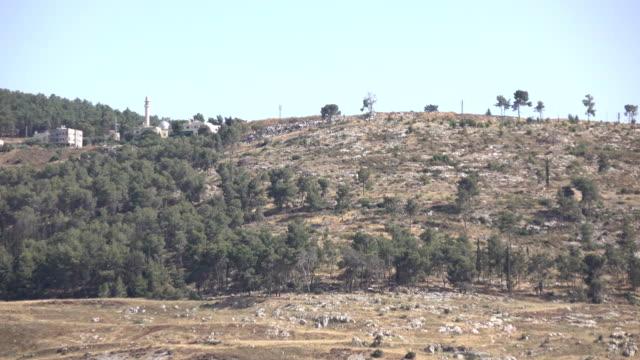 Panning Over Top of Ridgeline in Israel video