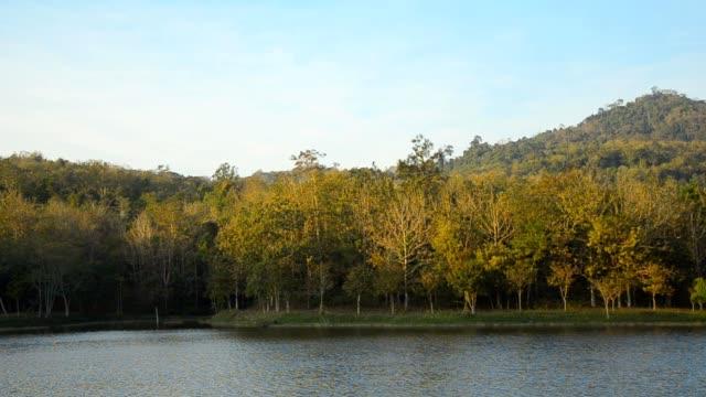 panning : reservoir at twilight video