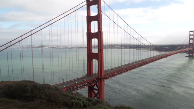Desplazamiento derecho sobre Golden Gate Bridge - vídeo