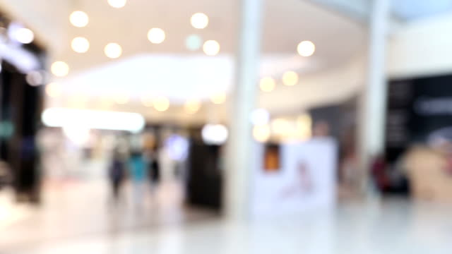 panning shot: Abstract blurred background of Shopping mall pedestrian HD panning shot: Abstract blurred background of Shopping mall pedestrian, High Definition 1920x1080 format focus on foreground stock videos & royalty-free footage