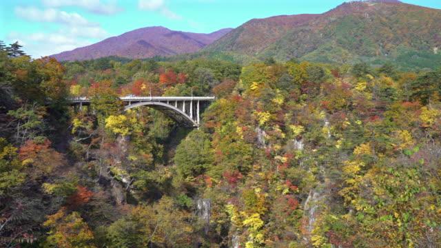 Panning shot: Bridge at naruko george Miyagi Osaki Japan