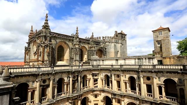 HD panning shot: Knights Templar Convents of Christ Tomar, Lisbon video