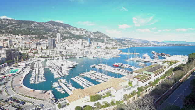 panning shot of Aerial Monaco Monte Carlo harbour french riviera 4K panning shot of Aerial Monaco Monte Carlo harbour french riviera, Apple ProRes 422 (HQ) 3840x2160 Format monte carlo stock videos & royalty-free footage