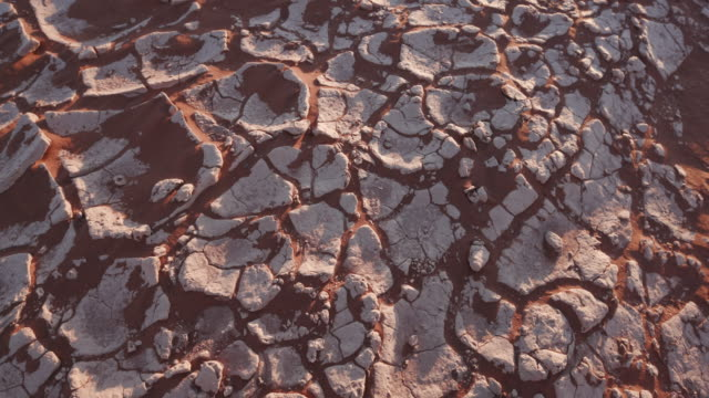 4K panning shot of dry cracked mud inside the Namib-Naukluft National Park video