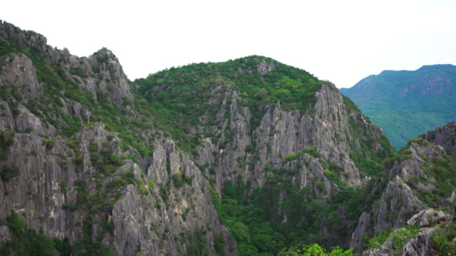 Panning shot of limestone mountains video