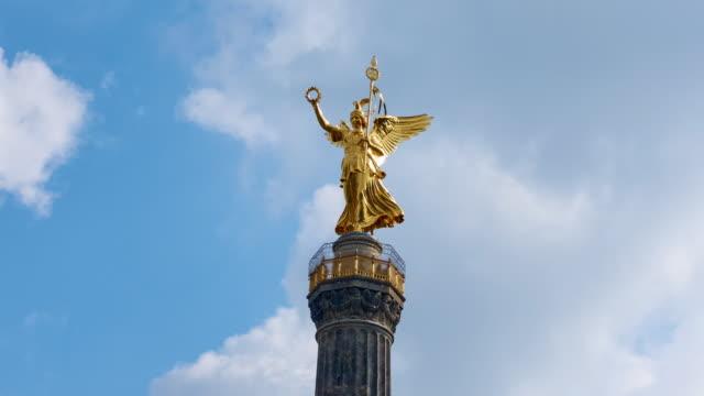 Panning Timelapse Video in 4K of the Berlin Victory Column - Siegessäule video