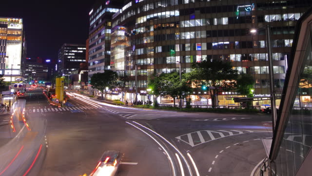 Panning Traffic time-lapse in Japan video
