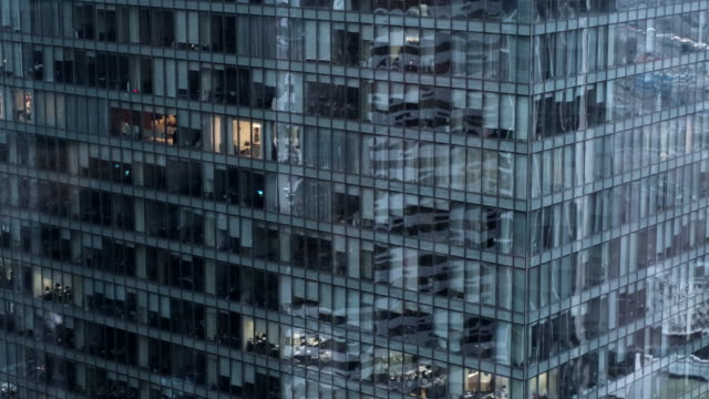 panorama camera on a glass office building