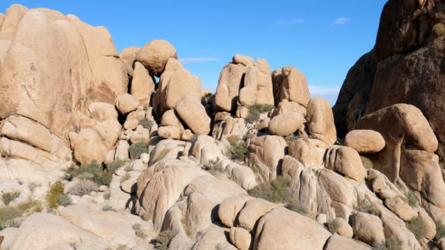 Panorama From Bottom Up, The Big Rocks In Joshua Tree National Park USA video