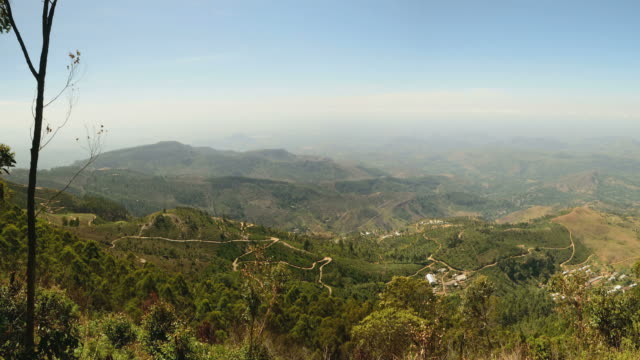 Panorama from Lipton Seat, hill country, travel destination in Sri Lanka video