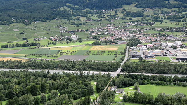 panorama near Bad Ragaz in the Swiss Alps video