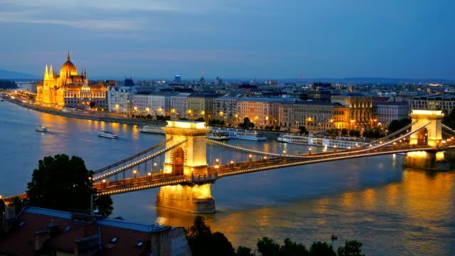 Panorama of Budapest, Hungary. video