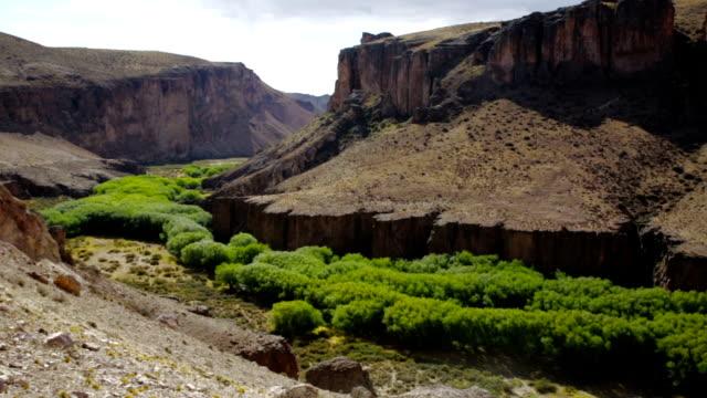 Panorama of canyon Rio Pinturas video