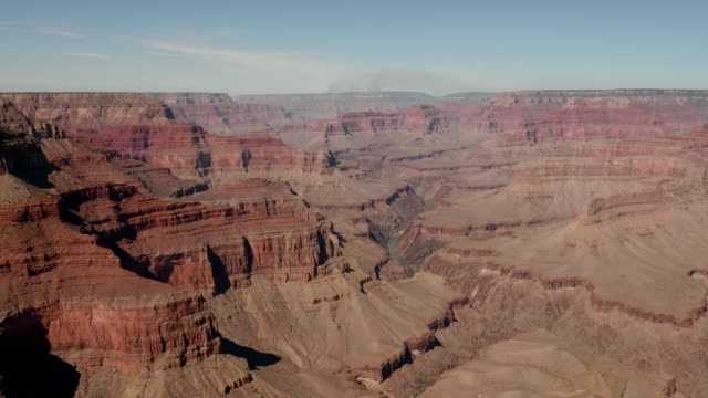 Panorama Of Grand Canyon Gorge National Park And Colorado River On A Sunny Day