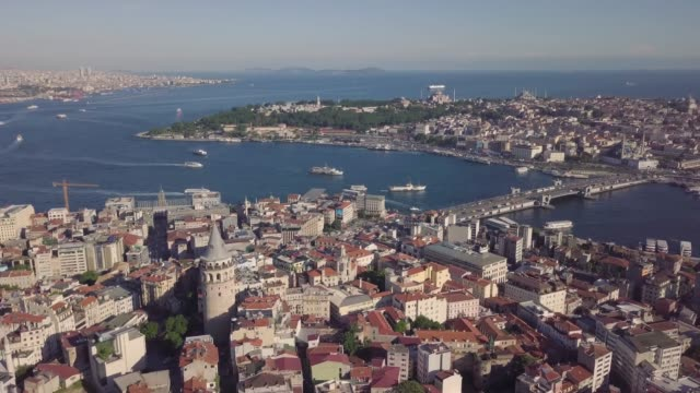 Panorama of Istanbul Panorama of Istanbul, biggest city in Turkey. Aerial view istanbul stock videos & royalty-free footage