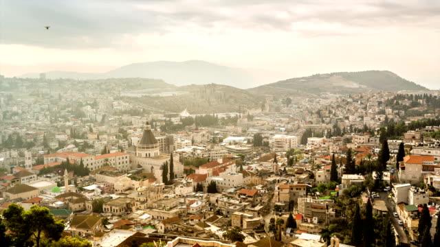 Panorama of Nazareth,Israel video