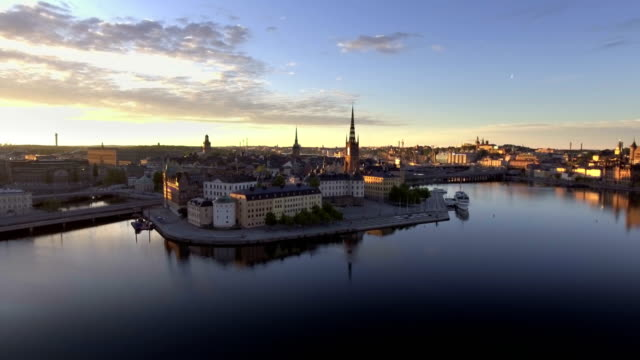 Panorama of Old town Panorama of Old town in Stockholm stockholm stock videos & royalty-free footage