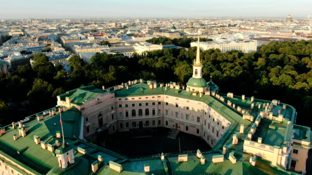 panorama of palace reminding classical Europe architecture