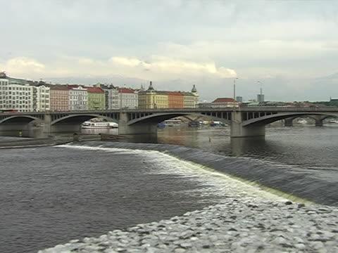 панорама праги  - элемент здания стоковые видео и кадры b-roll