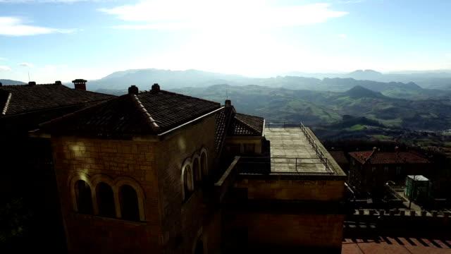 Panorama of San Marino,mountains on background video