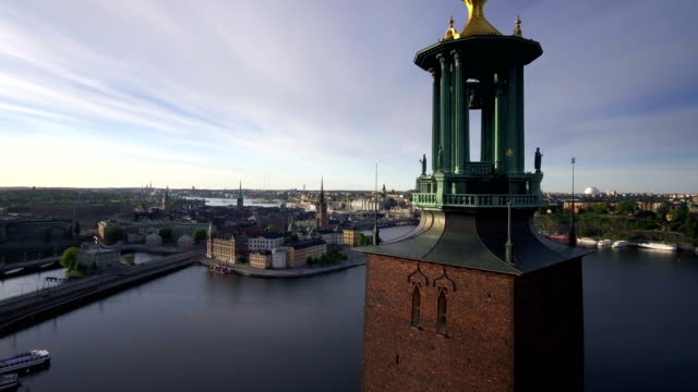 Panorama of Stockholm city video
