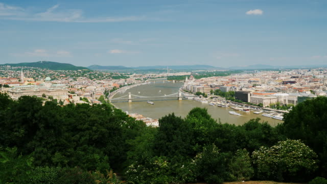 Panorama of the city of Budapest, Hungary. One of the most beautiful cities in Europe video