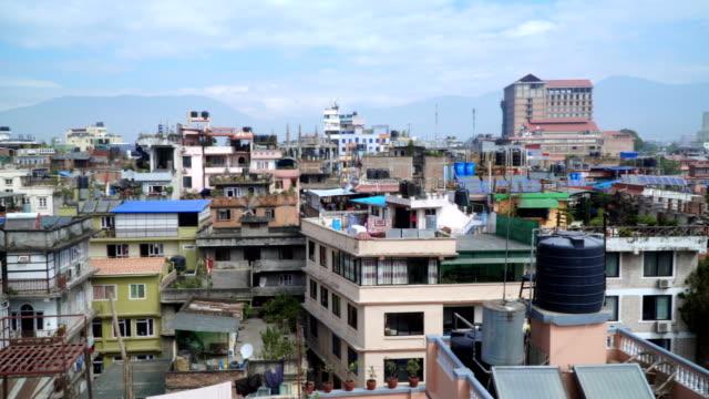Panorama of the city of Kathmandu video