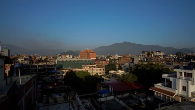 カトマンズの街のパノラマ - ネパール人点の映像素材/bロール