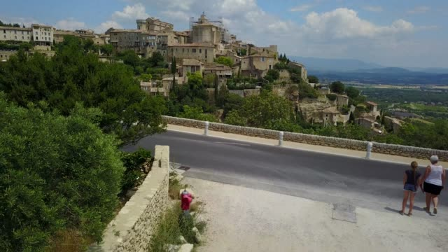 Panorama of the Gordes in the Vaucluse departement, France. 4K, UHD