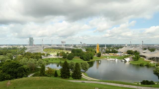 Panorama of the Olympiapark. Munich