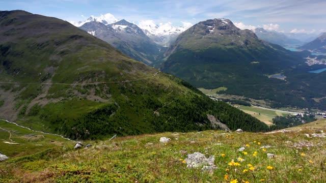 Panorama of the Upper Engadine from Muottas Murag video