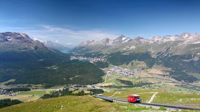 Panorama of the Upper Engadine from Muottas Muragl video