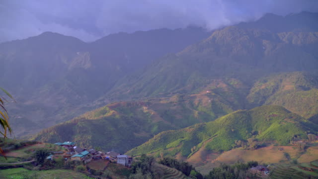 Panorama scenes of cityscape SAPA old village from famous landmark Ham Rong, good view point at SAPA, VIETNAM. Panorama scenes of cityscape SAPA old village from famous landmark Ham Rong, good view point at SAPA, VIETNAM. sa pa stock videos & royalty-free footage