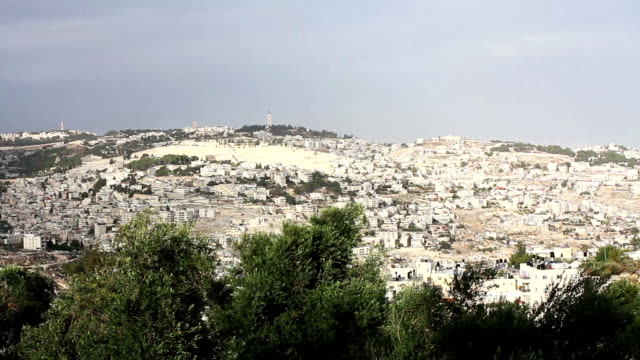 Panorama the old city Jerusalem video