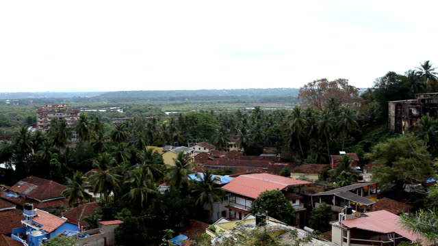 Panorama view on the Panjim city video