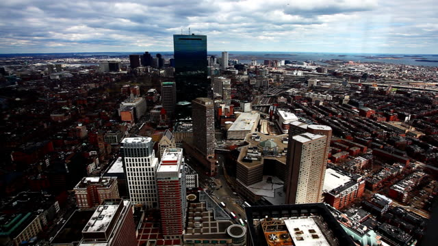 Panoramic aerial of the city of Boston, Massachusetts video