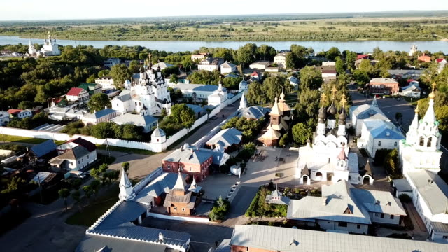 Panoramic aerial view of Trinity  in Murom
