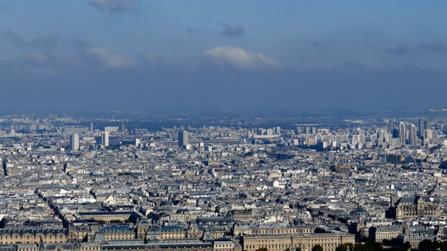 Panoramic footage in 4k with Paris from Montparnasse tower video