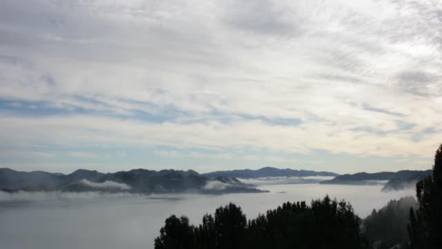 Panoramic Lake Fog Time Lapse video