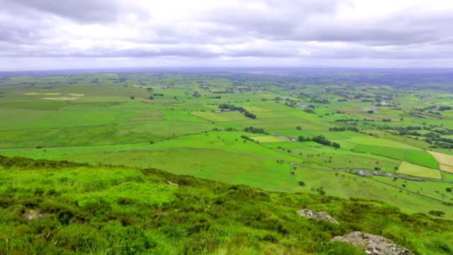 panoramic view from Slemish Mountain, County Antrim, Northern Ireland, UK video