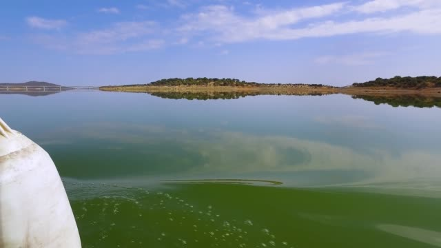 Panoramic View From Yacht on Water Landscape video